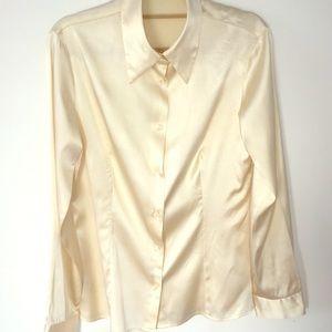 Cream vanilla 95% silk shirt